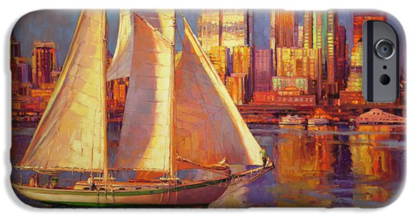 Sailboat iPhone 6s Case - Emerald City Twilight by Steve Henderson