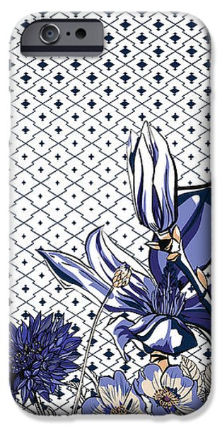 Digital Image iPhone 6s Case - Floral Print by Gettdesign