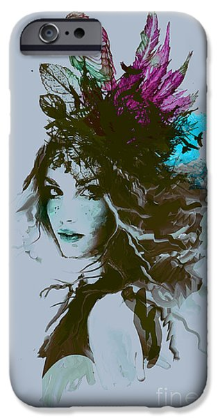 Digital Image iPhone 6s Case - Free Hand Fashion Illustration With A by Alisa Franz