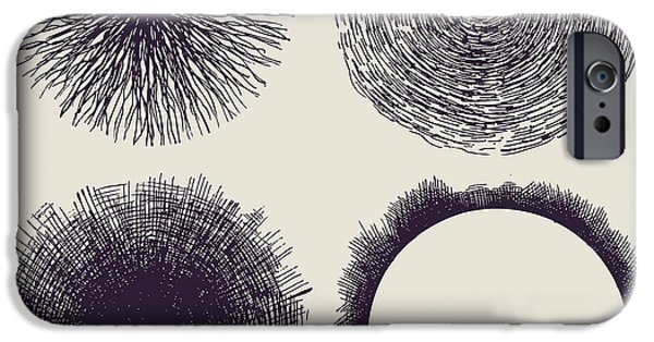 Space iPhone 6s Case - Grunge Halftone Drawing Textures Set by Jumpingsack
