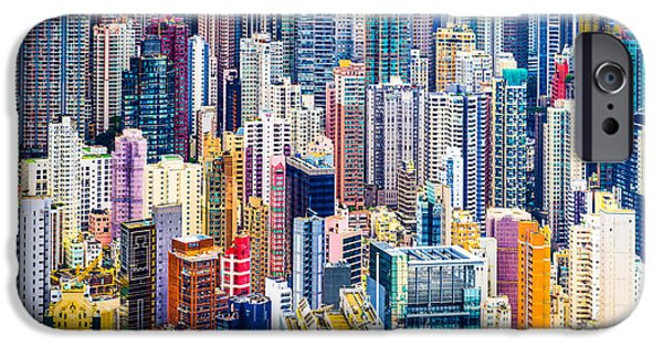 Office Buildings iPhone 6s Case - Hong Kong, China Dense Cityscape Of by Esb Professional