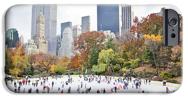 Office Buildings iPhone 6s Case - Ice Skaters Having Fun In New York by Stuart Monk