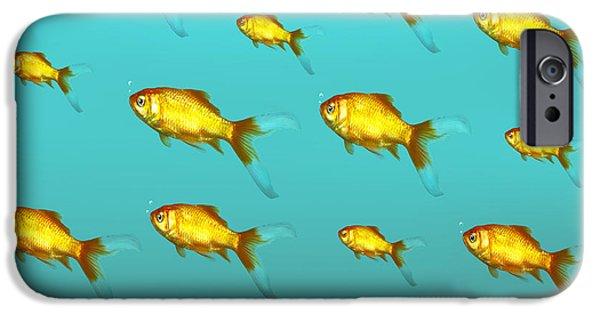 Aquarium iPhone 6s Case - Illustrative Background Of Many Red by Valentina Photos