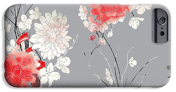 Perfume iPhone 6s Case - Imprints Sakura And Chrysanthemum. Hand by Liia Chevnenko