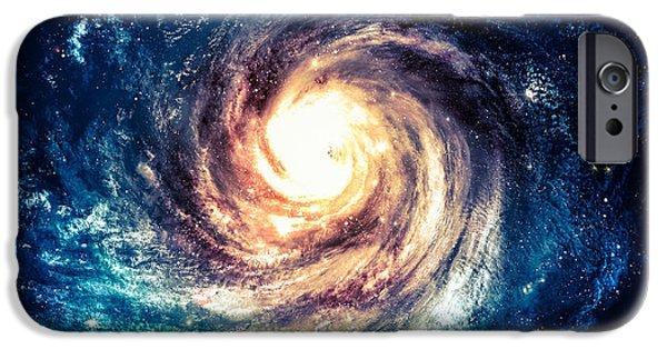 Space iPhone 6s Case - Incredibly Beautiful Spiral Galaxy by Vadim Sadovski