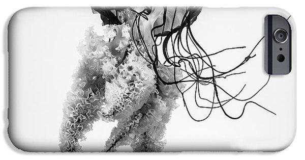 Aquarium iPhone 6s Case - Jellyfish B+w by Dan Sedran