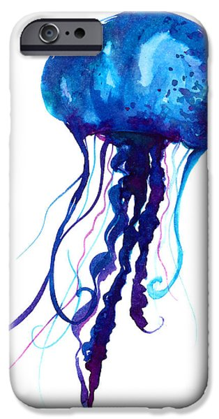 Space iPhone 6s Case - Jellyfish Watercolor Illustration by Anna Kutukova