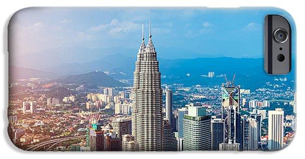 Office Buildings iPhone 6s Case - Kuala Lumpur Skyline, Malaysia by R.nagy