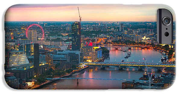 Office Buildings iPhone 6s Case - London At Sunset, Panoramic View by Ir Stone