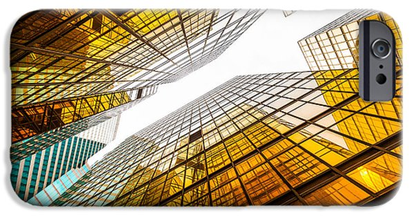 Office Buildings iPhone 6s Case - Low Angle View Of Modern Skyscraper by Zhu Difeng
