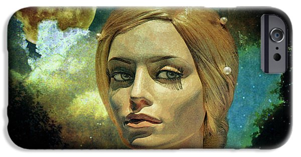 Moon iPhone 6s Case - Luna In The Garden Of Evil by Chuck Staley