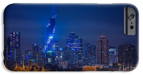 Office Buildings iPhone 6s Case - Mahanakhon Bangkok Rising Lightshow by Anek.soowannaphoom