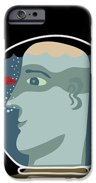 Aquarium iPhone 6s Case - Man With A Head Inside An Aquarium With by Complot