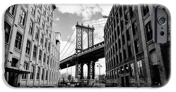 Office Buildings iPhone 6s Case - Manhattan Bridge Seen From A Brick by Youproduction