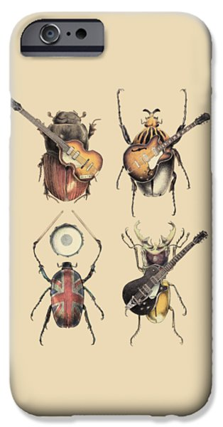 Guitar iPhone 6s Case - Meet The Beetles by Eric Fan
