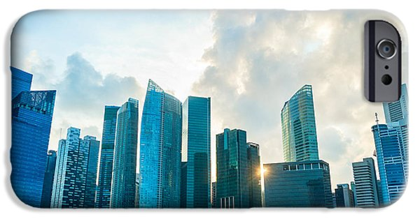 Office Buildings iPhone 6s Case - Modern Architecture Of Singapore by Joyfull