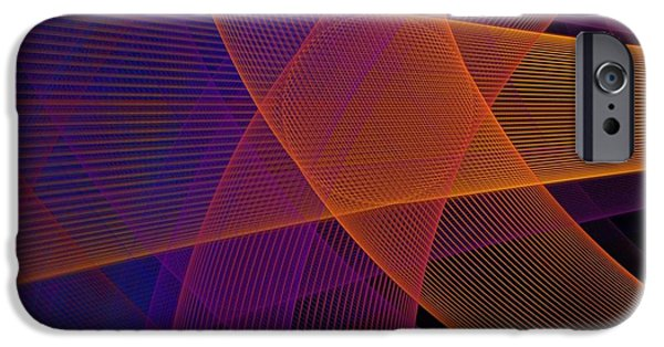 Fractal iPhone 6s Case - Modern Pink, Purple And Orange Fractal by Jennifer Gottschalk