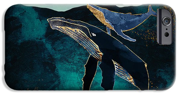 Scuba Diving iPhone 6s Case - Moonlit Whales by Spacefrog Designs