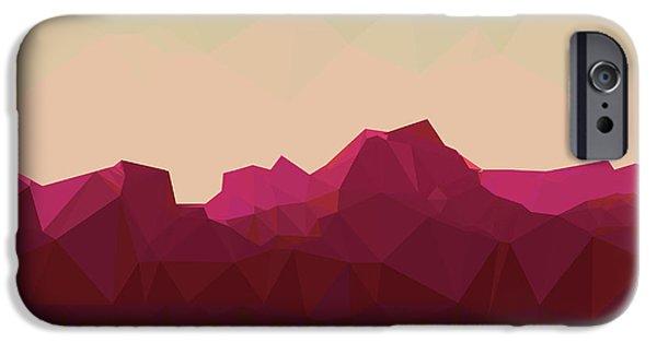 Space iPhone 6s Case - Mountainous Terrain, Polygonal by Droidworker