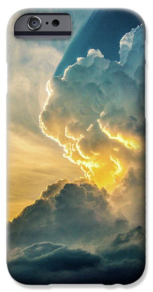 Nebraskasc iPhone 6s Case - Nebraska Sunset Thunderheads 075 by NebraskaSC