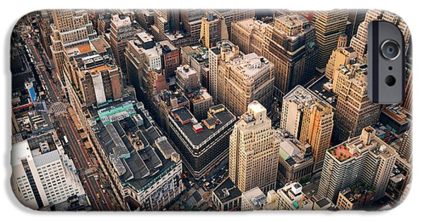 Office Buildings iPhone 6s Case - New York City Manhattan Aerial Skyline by Songquan Deng