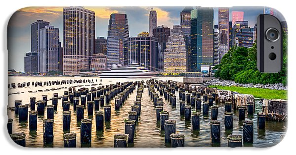 Office Buildings iPhone 6s Case - New York City, Usa City Skyline On The by Sean Pavone