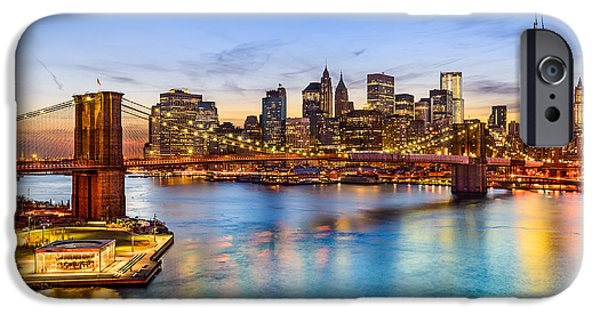 Office Buildings iPhone 6s Case - New York City, Usa Skyline Over East by Sean Pavone