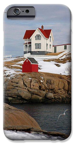 New England Coast iPhone 6s Case - Nubble Light - Cape Neddick Lighthouse Seascape Landscape Rocky Coast Maine by Jon Holiday