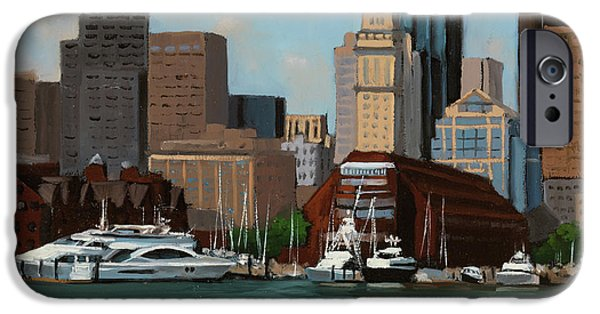 New England Coast iPhone 6s Case - On A Clear Day by Laura Lee Zanghetti
