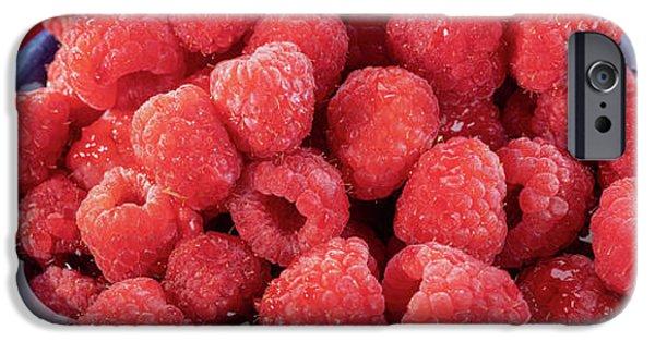 Blue Berry iPhone 6s Case - Red Raspberries In A Bowl by Steve Gadomski