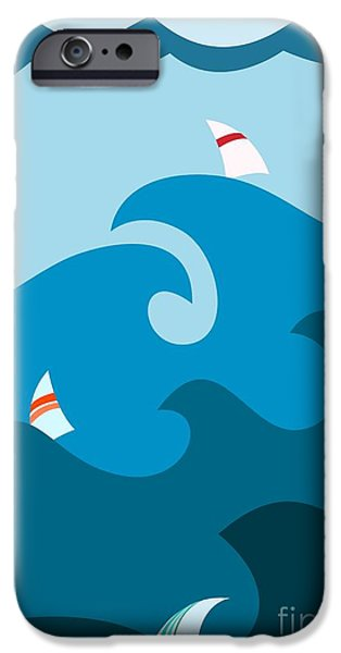 Sailboat iPhone 6s Case - Sailboat On Stormy Seas by Martin Nezval