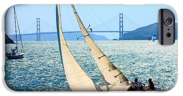 Sailboat iPhone 6s Case - Sailboats In The San Francisco Bay by Kevin Bermingham