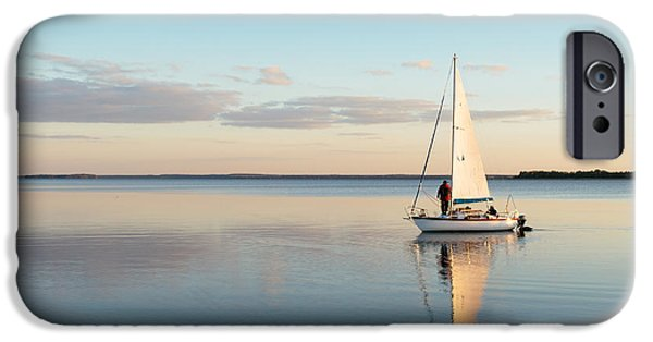 Sailboat iPhone 6s Case - Sailing Boat On A Calm Lake With by Wstockstudio