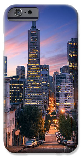 Office Buildings iPhone 6s Case - San Francisco Downtown At Sunrise - by Im photo