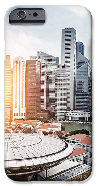 Office Buildings iPhone 6s Case - Skyline Of Singapore Business District by Zhu Difeng