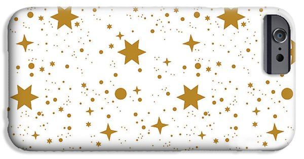 Simple iPhone 6s Case - Star, Pattern, White, Background, Gold by Ann.and.pen