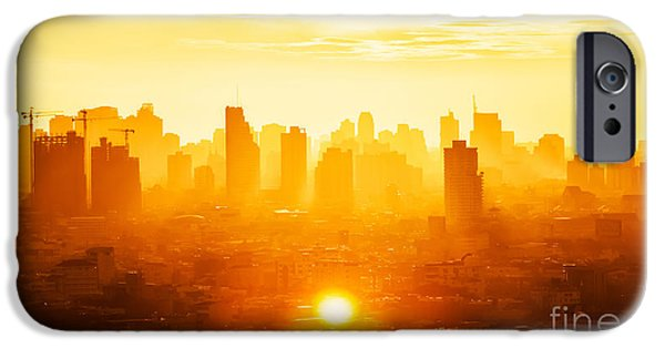 Office Buildings iPhone 6s Case - Sunrise Over Modern Office Buildings In by Twstock