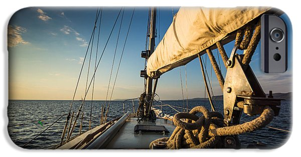 Sailboat iPhone 6s Case - Sunset At Sea On Aboard The Yacht by Zhukov Oleg