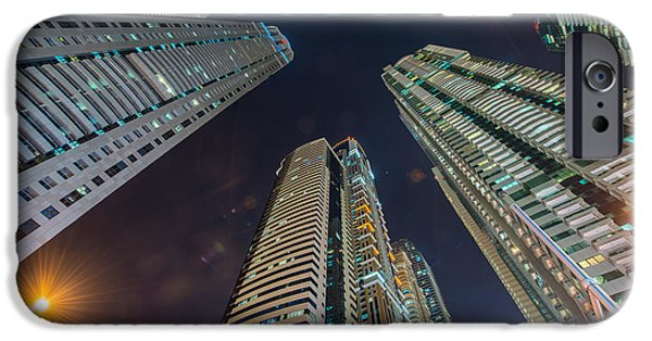 Office Buildings iPhone 6s Case - Tall Residential Buildings In Dubai by Elnur