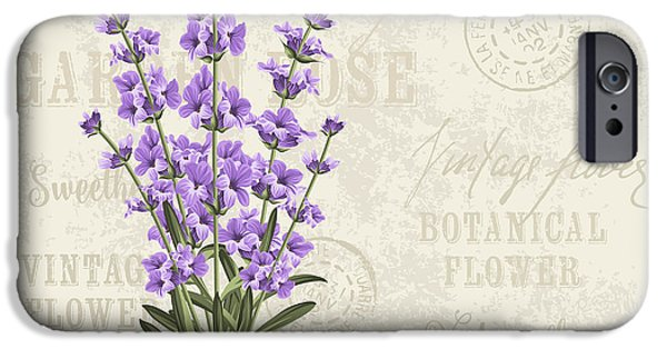 Perfume iPhone 6s Case - The Lavender Elegant Card. Vintage by Kotkoa