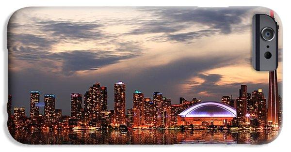 Office Buildings iPhone 6s Case - Toronto Skyline At Sunset, Ontario by Inga Locmele
