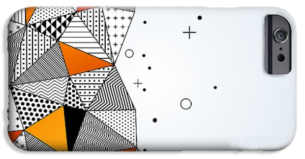 Space iPhone 6s Case - Triangle Pattern Background. Vector by Kotoffei