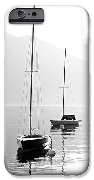 Sailboat iPhone 6s Case - Two Sail Boats In Early Morning On The by Kletr