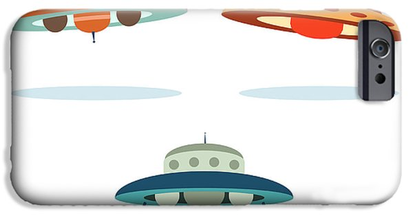 Space iPhone 6s Case - Ufo Alien Space Ships by Oculo