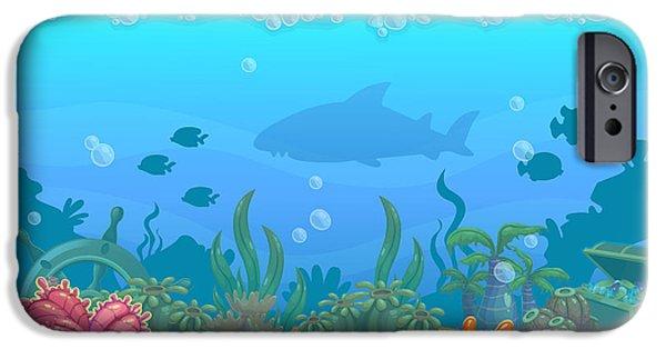 Aquarium iPhone 6s Case - Underwater Seamless Landscape by Lilu330