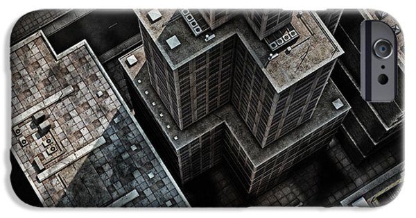 Office Buildings iPhone 6s Case - Urban Rooftops, Aerial View Of A 3d by Petrafler