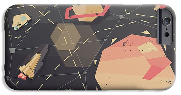Space iPhone 6s Case - Vintage Postcard Of Spaceship In by As Good As Possible
