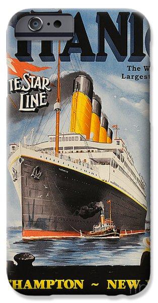 Cruise Ship iPhone 6s Case - Vintage Titanic Advertisment by Jon Neidert