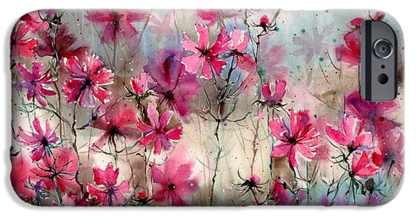 Perfume iPhone 6s Case - Where Pink Flowers Grew by Suzann Sines