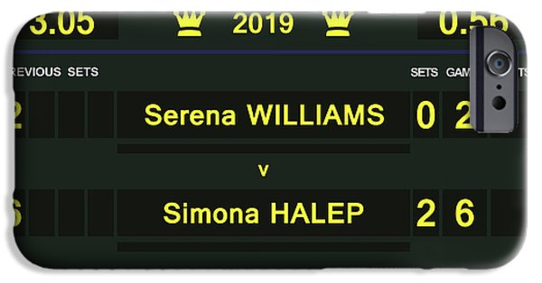 Venus Williams iPhone 6s Case - Wimbledon Scoreboard - Customizable - 2017 Muguruza by Carlos Vieira